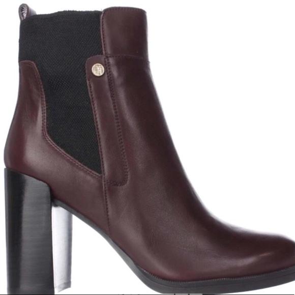 95bafa311 Tommy Hilfiger Britton Block Heel Boots. M 5b477053e944ba7d189a4e8a